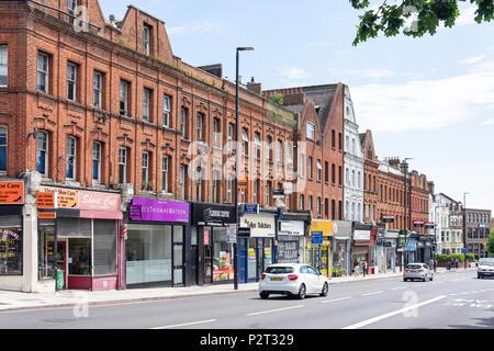 Upper Holloway Road, Upper Holloway, London Borough of Islington, Greater London, England, United Kingdom - Stock Photo