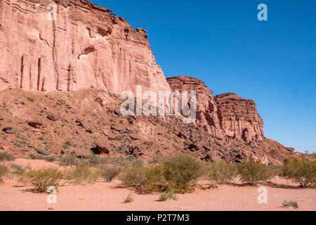 Argentina, La Rioja Province, near Villa Union, Talampaya national Park, Parque Nacional Talampaya listed as World Heritage by UNESCO, Talampaya canyon - Stock Photo