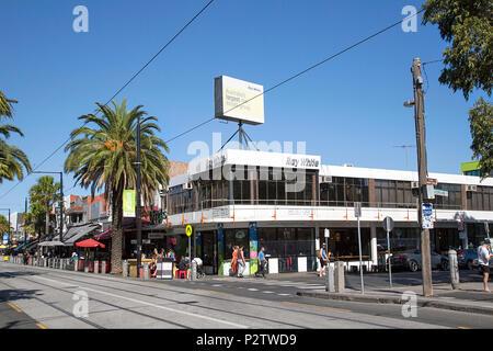Melbourne, Australia: April 13, 2018: Ray White Port Phillip Real Estate Agent on Acland Street, St Kilda, Melbourne. - Stock Photo
