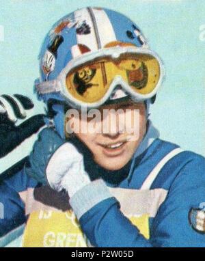 . CAMPIONI dello SPORT 1968/69-n.353- STEURER - SPORT INVERNALI (FRA)-Rec . 1968 or earlier. Unknown 29 Florence Steurer 1968 - Stock Photo