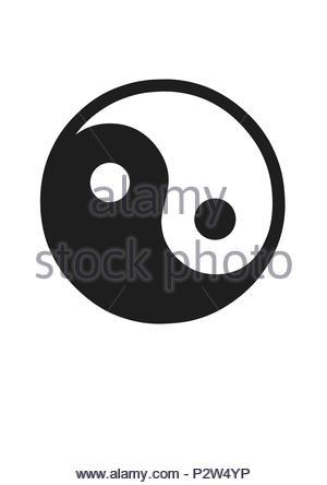yingyang logo - Stock Photo
