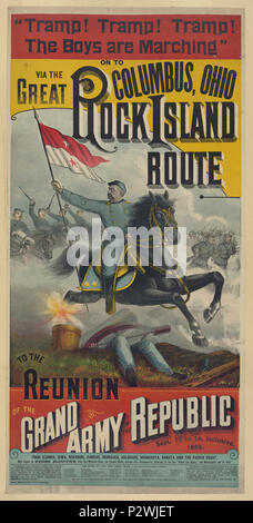 . The Great Rock Island route to the reunion of the Grand Army of the Republic.. - Stock Photo