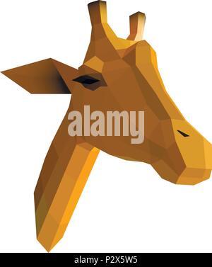 Giraffe Origami Illustration Stock Vector Art