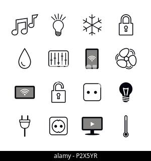 Set of icons. Internet of things. Smart house.Smart home - Stock Photo