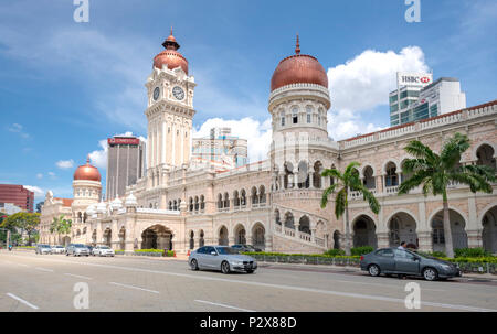The Sultan Abdul Samad building in the colonial district of Kuala Lumpur - Stock Photo