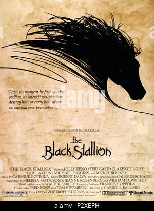 Original Film Title: THE BLACK STALLION.  English Title: THE BLACK STALLION.  Film Director: CARROLL BALLARD.  Year: 1979. Credit: UNITED ARTISTS / Album - Stock Photo