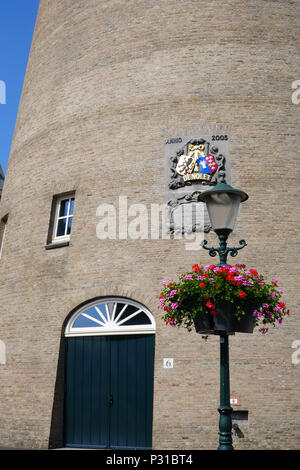windmill from the jenever factory Nolet1, Schiedam, Holland - Stock Photo