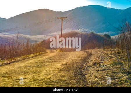 Hiking the hills in San Clemente Calfiornia - Stock Photo