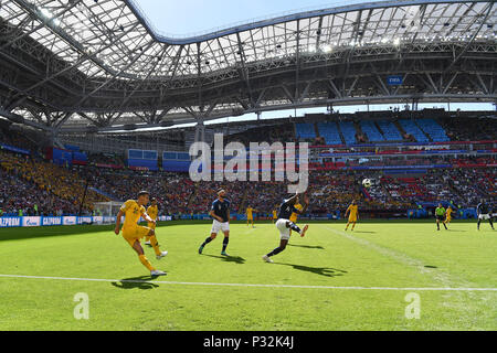Kazan, Russia. 16th June, 2018. generally, peripheral subject, game scene. France (FRA) -Australia (AUS) 2-1, Preliminary Round, Group C, Game 5, on 16.06.2018 in Kazan, Kazan Arena. Football World Cup 2018 in Russia from 14.06. - 15.07.2018. | usage worldwide Credit: dpa/Alamy Live News - Stock Photo
