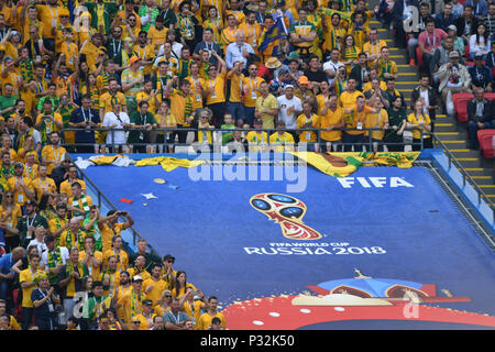 Kazan, Russia. 16th June, 2018. General, Fans, Football Fans l France (FRA) -Australia (AUS) 2-1, Preliminary Round, Group C, Match 5, on 16.06.2018 in Kazan, Kazan Arena. Football World Cup 2018 in Russia from 14.06. - 15.07.2018. | usage worldwide Credit: dpa/Alamy Live News - Stock Photo