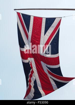 national flag of the United Kingdom (UK) aka Union Jack - Stock Photo