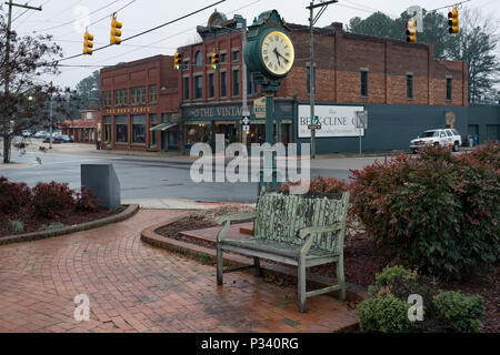 an historical document of architecture and location for Mount Gilead Town Clock circa 2018 - Stock Photo