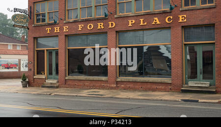 an historical document of architecture and location for The Ford Place Restaurant circa 2018 - Stock Photo