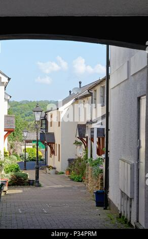 Secluded small alleyway  in the market town of Honiton East Devon England UK - Stock Photo
