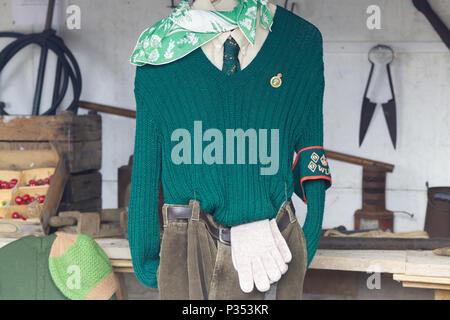 Women's land army uniform - Stock Photo