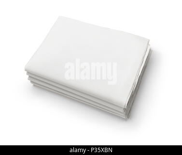 Blank Newspaper Isolated On White Background Stock Photo 208498910