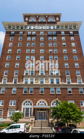 ASHEVILLE, NC, USA-10 JUNE 18:  The Battery Park hotel building, now serving as senior citizens' apartments. - Stock Photo