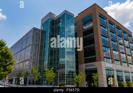 ASHEVILLE, NC, USA-10 JUNE 18:  Buncombe County Health & Human Services Building in downtown Asheville. - Stock Photo