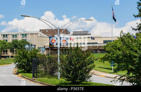 ASHEVILLE, NC, USA-10 JUNE 18: A Veterans Administration Hospital, the Charles Grove Medical Center. - Stock Photo