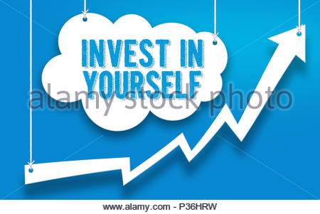 INVEST IN YOURSELF word concept - Stock Photo