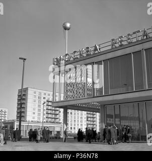 Berlin, DDR, the Cafe Moskau in the Karl-Marx-Allee - Stock Photo