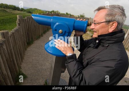 Putgarten, Germany, visitors to the Slavic Wall at Cape Arkona - Stock Photo