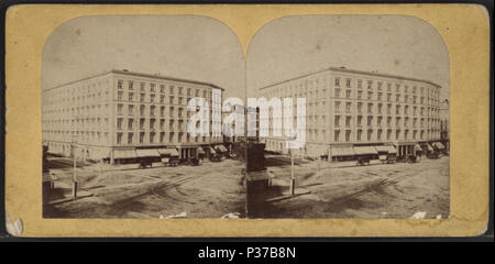 . Fifth Avenue Hotel, New York.  Coverage: 1859?-1896. Digital item published 9-30-2005; updated 2-11-2009. 104 Fifth Avenue Hotel, New York, from Robert N. Dennis collection of stereoscopic views 4 - Stock Photo
