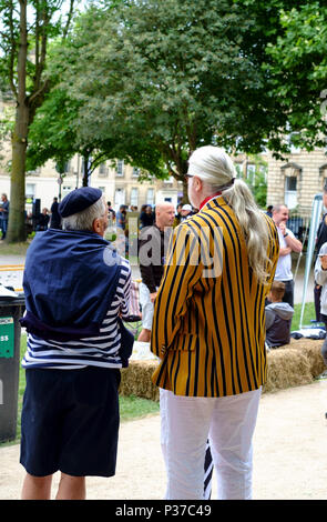 Refarees at Bath Boules Festival, queen square,bath,somerset england uk June 2018 - Stock Photo