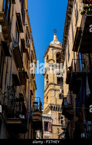 View of a street in Palermo, Sicily, Italy - Stock Photo