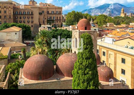 Church of San Cataldo in Palermo, Italy - Stock Photo