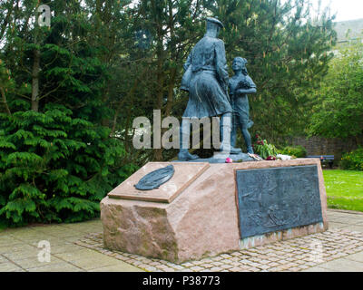 Monument to 51st Highland Division Battle Honours 1967 - Stock Photo