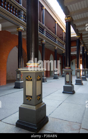 Stralsund, Germany, Saeulengang in Stralsund Town Hall - Stock Photo