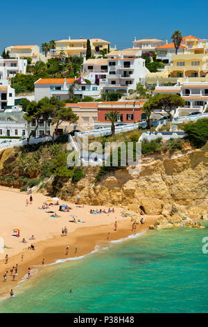 Praia do Carvoeiro, the Algarve, Portugal, in summer - Stock Photo