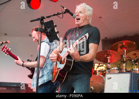 Glasgow, UK. 17th Jun, 2018. Big Country in concert at The Kelvingrove Bandstand, Glasgow, Great Britain 17th June 2018 Credit: Westy Music Tog/Alamy Live News - Stock Photo