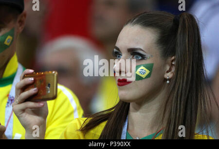 Rostov, Russia. 17th June, 2018. BRAZIL VS SWITZERLAND - Fan during the match between Brazil and Switzerland valid for the 2018 World Cup held at the Rostov Arena in Rostov-on-Don, Russia. (Photo: Rodolfo Buhrer/La Imagem/Fotoarena) Credit: Foto Arena LTDA/Alamy Live News - Stock Photo