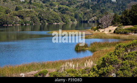 Crystal Springs Reservoir, San Mateo County, California - Stock Photo