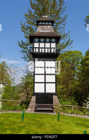 An ornate dovecote which stands in the grounds of Plas Newydd, Llangollen - Stock Photo