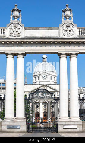 Department of the Taoiseach (Roinn an Taoisigh) Government Buildings, Merrion Street Upper, Dublin, Leinster Province, Republic of Ireland - Stock Photo