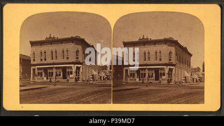 162 John Graham's Store, Portage, Wis, from Robert N. Dennis collection of stereoscopic views - Stock Photo