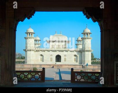 Itimad-ud-Daulah or Baby Taj in Agra,Utar, Pradesh, India - Stock Photo