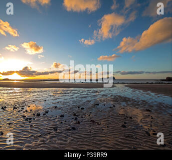 Sunset at North Berwick, East Lothian, Scotland, United Kingdom - Stock Photo