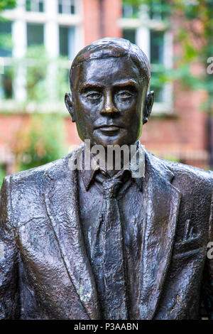 Alan Turing Memorial in Sackville Park in Manchester, UK - Stock Photo