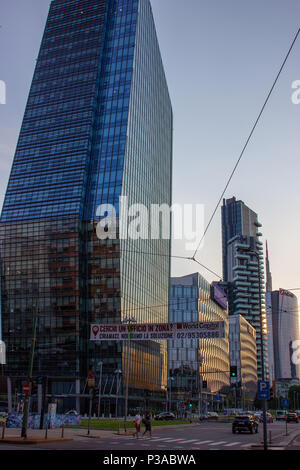 Diamond Tower and the Diamantini Buildings designed by the Kohn Pederson Fox in the Porta Nuova district in Milan, Italy - Stock Photo