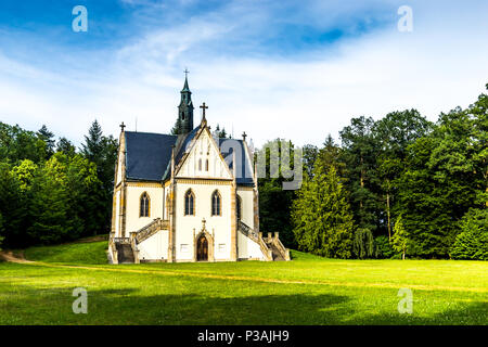 Schwarzenberg tomb near castle Orlik - Czech republic - Stock Photo