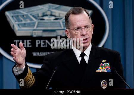 U.S. Navy Adm. Mike Mullen, chairman of the Joint Chiefs of Staff, speaks during a news conference at the Pentagon in Arlington, Va., Dec. 10, 2009. (DoD - Stock Photo