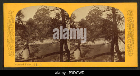 264 Scene on the Des Plaines River, by P. B. Greene 2 - Stock Photo