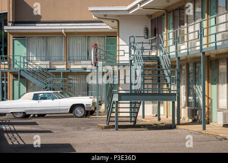 The Lorraine Motel, site of Martin Luther King's assassination on April 4, 1968, in Memphis, Tennessee. (USA)