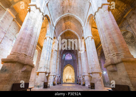 The Abbaye de Fontfroide, a former Cistercian monastery and abbey in France - Stock Photo