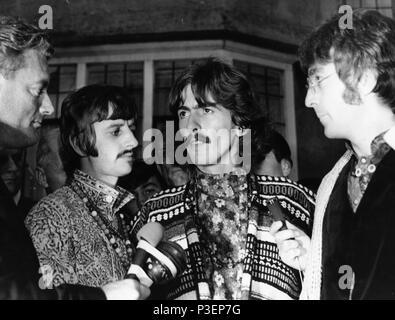 ringo starr, george harrison, john lennon, bangor, 1967 - Stock Photo