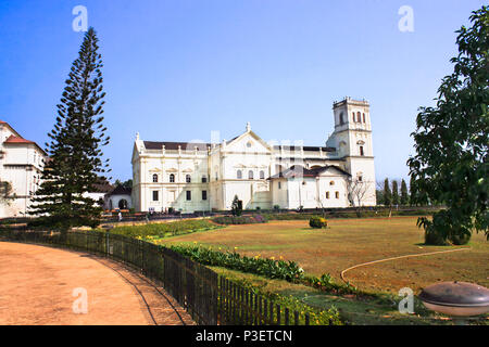 Church of St Francis of Assiisi and Se Cathedral in Old Goa , Goa India - Stock Photo